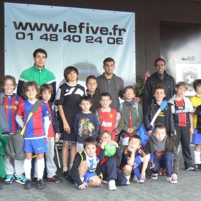 Activité au Five de Créteil pendant le stage de la Toussaint 2010-2011